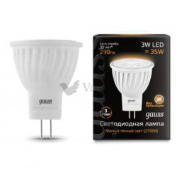 Лампа Gauss LED MR11 3W GU4 2700K FR 132517103