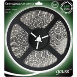 Светодиодная лента Gauss 3528/60-SMD 4.8W 12V DC зеленый свет 312000605