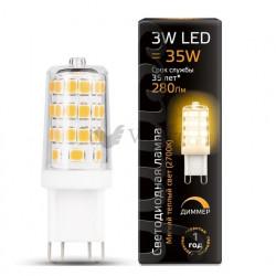 Лампа Gauss LED G9 AC185-265V 3W 2700K 1/20/200 диммируемая 107309103