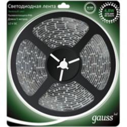 Светодиодная лента Gauss 3528/60-SMD 4.8W 12V DC зеленый свет IP66 311000605