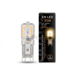Лампа Gauss LED G9 3W 220V 2700K 107409103