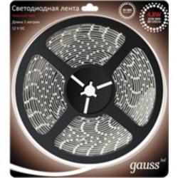 Светодиодная лента Gauss 3528/60-SMD 4.8W 12V DC красный свет 312000705