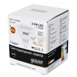 Лампа Gauss LED Elementary LENS MR16 GU5.3 3.5W 2700K 16514