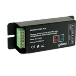 Контроллер для светодиодной ленты RGB 144W 12А с сенсорный пультом ДУ Gauss (цвет черный) PC201173144