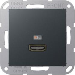 Розетка HDMI, цветАнтрацит (матовый),A500,Jung