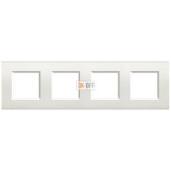 Рамка 4-ая (четверная) прямоугольная, цвет Белый, LivingLight, Bticino