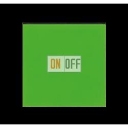Выключатель 1-клавишный, цвет Зеленый/Дымчатый черный, Levit, ABB