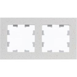 Рамка 2-ая (двойная), Мрамор Крем Роял, серия Atlas Design Nature, Schneider Electric