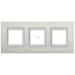 Рамка 3-ая (тройная) прямоугольная, цвет Алюминий, Axolute, Bticino