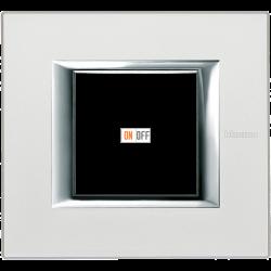 Рамка 1-ая (одинарная) прямоугольная, цвет Жемчужное серебро, Axolute, Bticino
