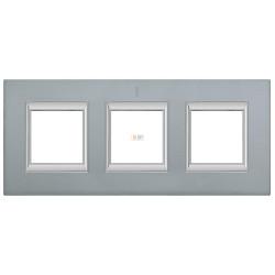 Рамка 2-ая (двойная) прямоугольная, цвет Темное серебро, Axolute, Bticino