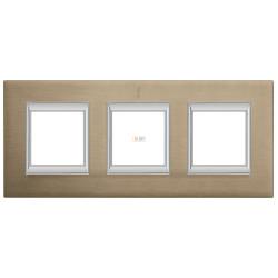 Рамка 3-ая (тройная) прямоугольная, цвет Титан, Axolute, Bticino