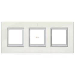 Рамка 3-ая (тройная) прямоугольная, цвет Фарфор, Axolute, Bticino