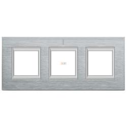 Рамка 3-ая (тройная) прямоугольная, цвет Хром, Axolute, Bticino