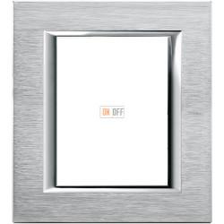 Рамка итальянский стандарт 3+3 мод прямоугольная, цвет Хром, Axolute, Bticino