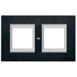 Рамка 2-ая (двойная) прямоугольная, цвет Черный мрамор Ардезия, Axolute, Bticino
