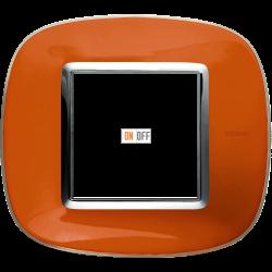 Рамка 1-ая (одинарная) эллипс, цвет Апельсиновая карамель, Axolute, Bticino