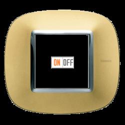 Рамка 1-ая (одинарная) эллипс, цвет Золото матовое, Axolute, Bticino