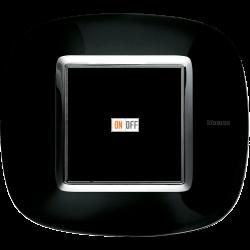 Рамка 1-ая (одинарная) эллипс, цвет Роскошный черный, Axolute, Bticino