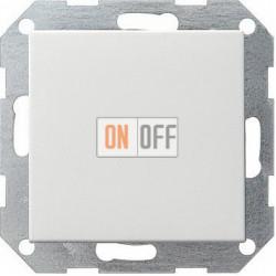 Выключатель 1-клавишный; кнопочный , цвет Белый, Gira