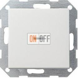 Выключатель 1-клавишный; кнопочный с подсветкой, цвет Белый, Gira