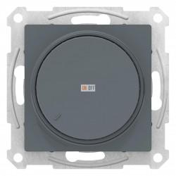 Диммер поворотно-нажимной , 300Вт для ламп накаливания, Грифель, серия Atlas Design, Schneider Electric