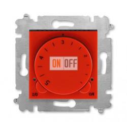 Терморегулятор для теплого пола, цвет Красный/Дымчатый черный, Levit, ABB