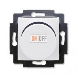 Диммер поворотно-нажимной , 600Вт для ламп накаливания, цвет Белый/Дымчатый черный, Levit, ABB