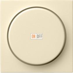 Диммер поворотно-нажимной , 400Вт для ламп накаливания, цвет Бежевый, Gira