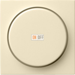 Диммер поворотно-нажимной , 600Вт для ламп накаливания, цвет Бежевый, Gira