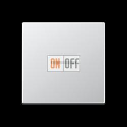 Выключатель 1-клавишный ,проходной с подсветкой (с двух мест), цветАлюминий,A500,Jung