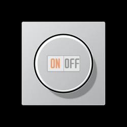 Диммер поворотно-нажимной , 20-210Вт для л/н. эл.трансф., LED цветАлюминий,A500,Jung