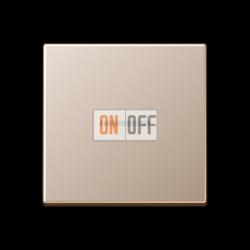 Выключатель 1-клавишный ,проходной с подсветкой (с двух мест), цветШампань,A500,Jung