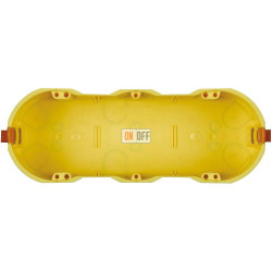 BT Коробка монтажная для полых стен под суппорт 6 мод 182х68х51