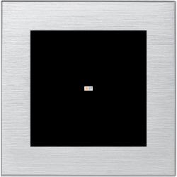 Рамка 1-ая (одинарная), Металл Серебро, серия Atlas Design Nature, Schneider Electric