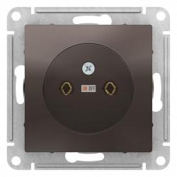 Розетка 1-ая электрическая без заземления, Мокко, серия Atlas Design, Schneider Electric