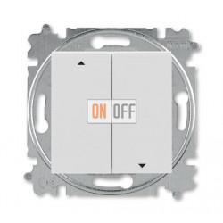 Выключатель для жалюзи (рольставней) кнопочный, цвет Серый/Белый, Levit, ABB