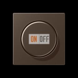 Диммер поворотно-нажимной , 20-210Вт для л/н. эл.трансф., LED цветМокка,A500,Jung