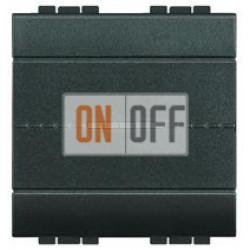 Выключатель 1-клавишный, перекрестный (с трех мест) Axial, цвет Антрацит, LivingLight, Bticino