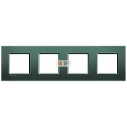 Рамка 4-ая (четверная) прямоугольная, цвет Зеленый шелк, LivingLight, Bticino