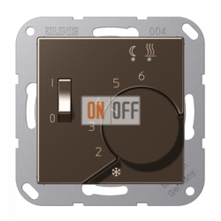 Терморегулятор для теплого пола (Eberle), цветМокка,A500,Jung