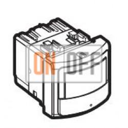 Датчик движения 400Вт с ручн.упр. 2-х проводная схема, цвет Алюминий, LivingLight, Bticino