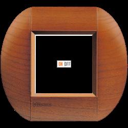 Рамка 1-ая (одинарная) овальная, цвет Дерево Вишня (американская), LivingLight, Bticino
