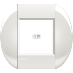 Рамка 1-ая (одинарная) овальная, цвет Белый, LivingLight, Bticino