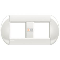Рамка 2-ая (двойная) овальная, цвет Белый, LivingLight, Bticino