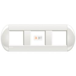 Рамка 3-ая (тройная) овальная, цвет Белый, LivingLight, Bticino