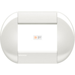 Рамка итальянский стандарт 3 мод овальная, цвет Белый, LivingLight, Bticino