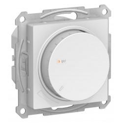 Диммер поворотно-нажимной , 300Вт для ламп накаливания, Белый, серия Atlas Design, Schneider Electric