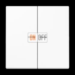 Выключатель 2-клавишный , с подсветкой, цвет Белый, LS990, Jung