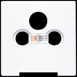 Розетка телевизионная оконечная ТV-FМ-SАТ, цвет Белый, LS990, Jung